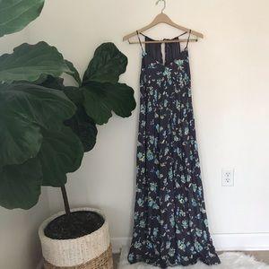 LC Lauren Conrad Floral Pleated Maxi Dress!